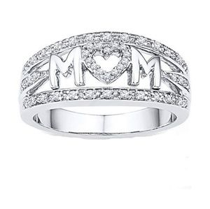 Jewelry - 🌹MOTHERS DAY🌹18K White Gold Mom ring